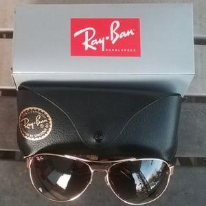 Brand New Brown Granite RayBan Aviators RB3386